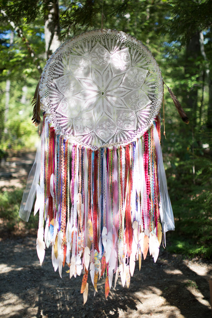 |  just like Harriet's heart, the dream catcher follows us into the sacred woods  |