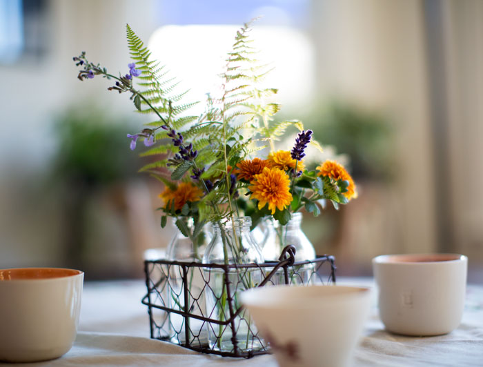 |  fall inspirired center piece  |