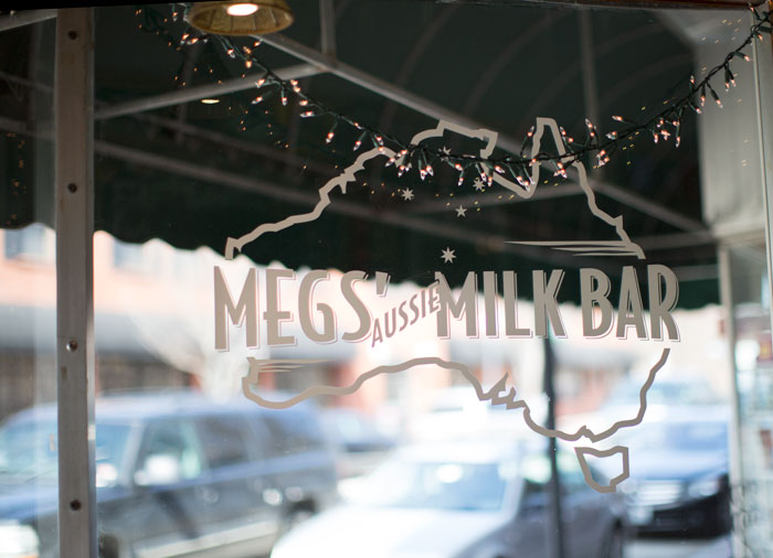 ::  then lunch at Meg's Aussie Milk Bar  ::