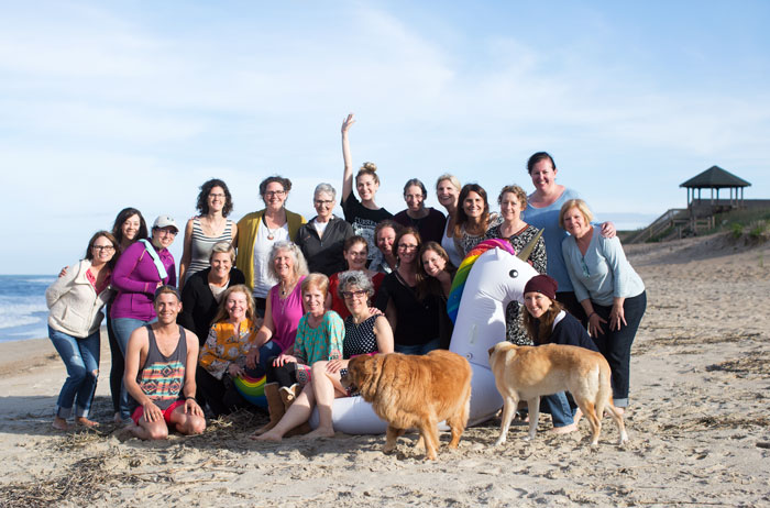 an almost everybody group photo-- missing a handful of people who  were chasing unicorns down the beach xo