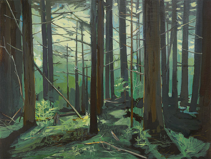 Big Woods, acrylic on panel, 2014
