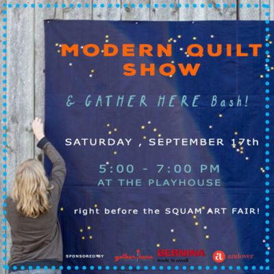 our first ever MODERN QUILT SHOW